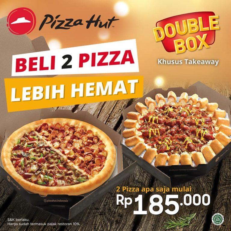 PIZZA HUT DOUBLE BOX – BELI DUA PIZZA LEBIH HEMAT Harga Mulai Rp. 185.000