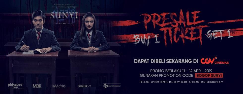 CGV Cinema Promo Spesial Buy 1 Get 1 Free Film Sunyi
