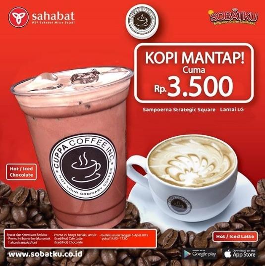 CUPPA COFFEE Promo Minuman Hanya Rp 3.500