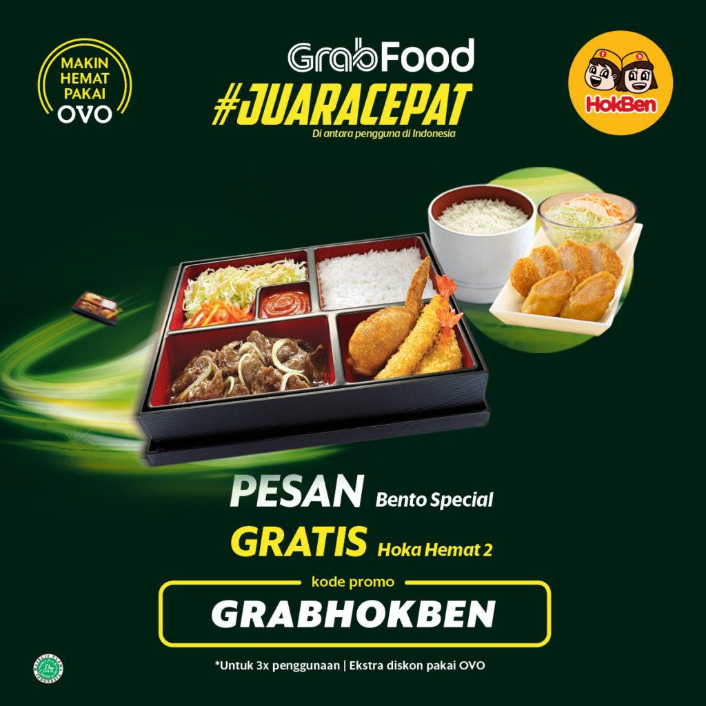 HOKBEN Promo Pesan Bento Special GRATIS Hoka Hemat 2 via GRABFOOD