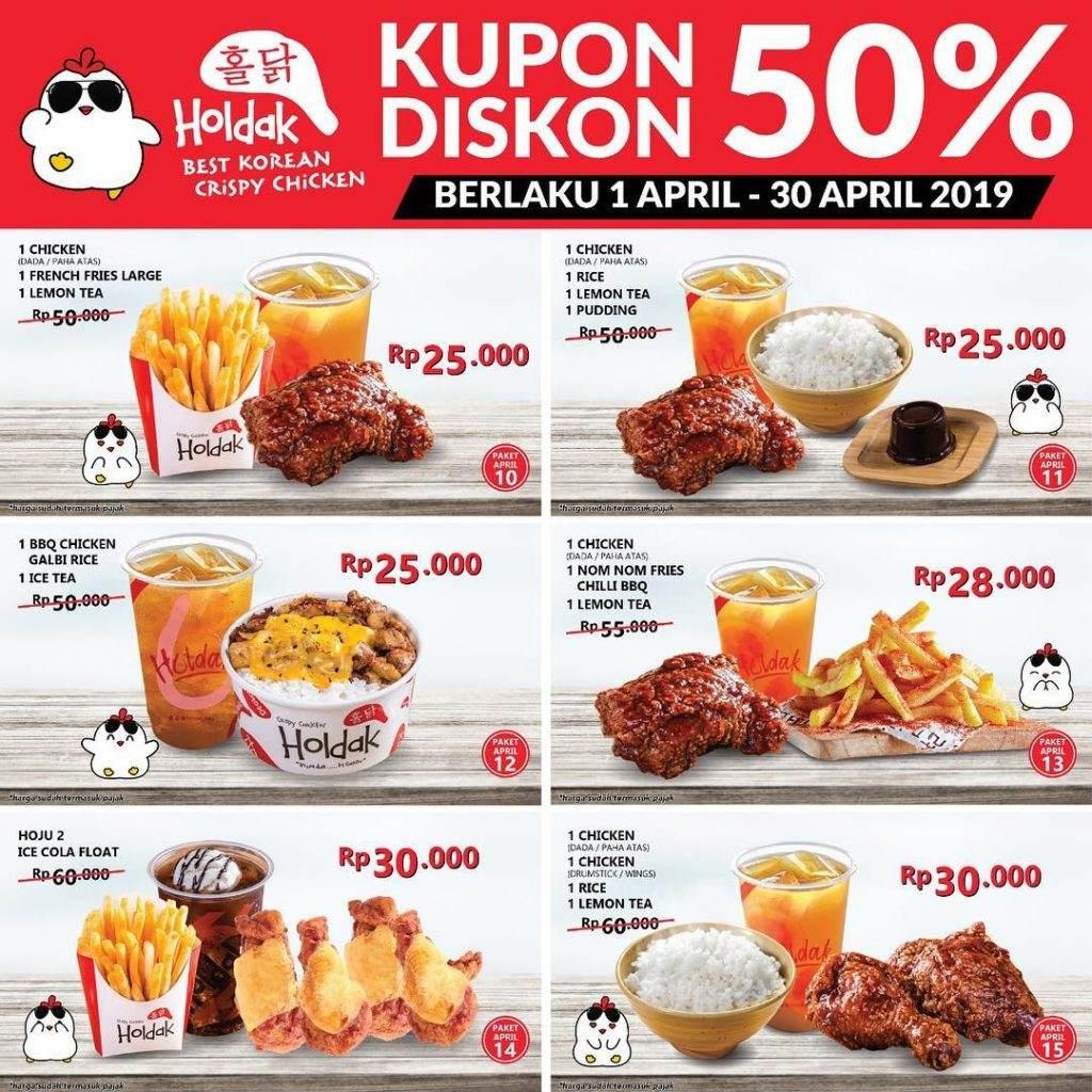 HOLDAK Promo KUPON DISKON 50% harga mulai dari Rp 18.000an