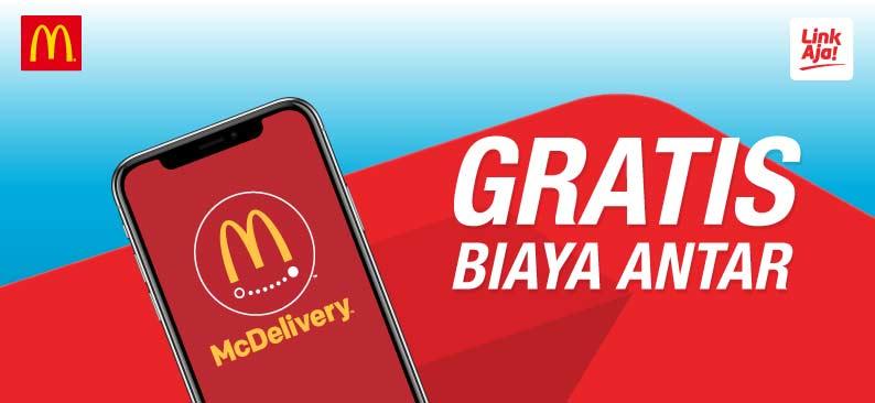 Diskon McDonalds Promo SPESIAL GRATIS BIAYA ANTAR Dengan LinkAja