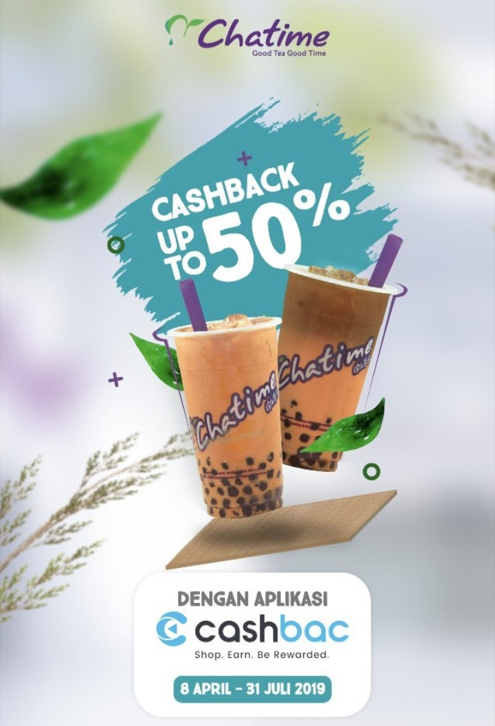 Diskon Chatime Promo Cashback 50% Dengan Cashbac