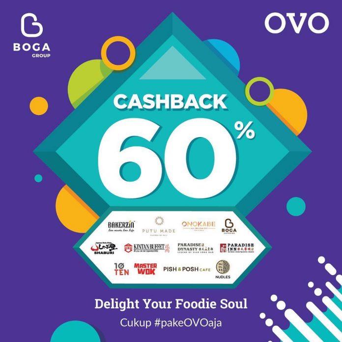 Promo Cashback 60% OVO di Boga Group