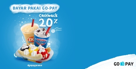 Dairy Queen Promo Spesial CASHBACK Langsung 20% Dengan Gopay