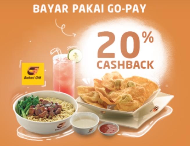 Bakmi GM Promo Lebih Hemat Dengan Gopay, Cashback 20%