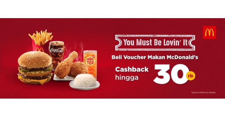 TOKOPEDIA.COM Promo Voucher Makan MCDONALD'S Cashback hingga 30 ribu