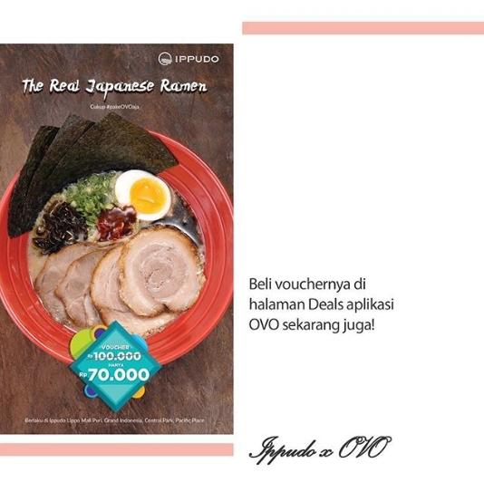 Ippudo promo voucher Rp100.000 hanya Rp70.000