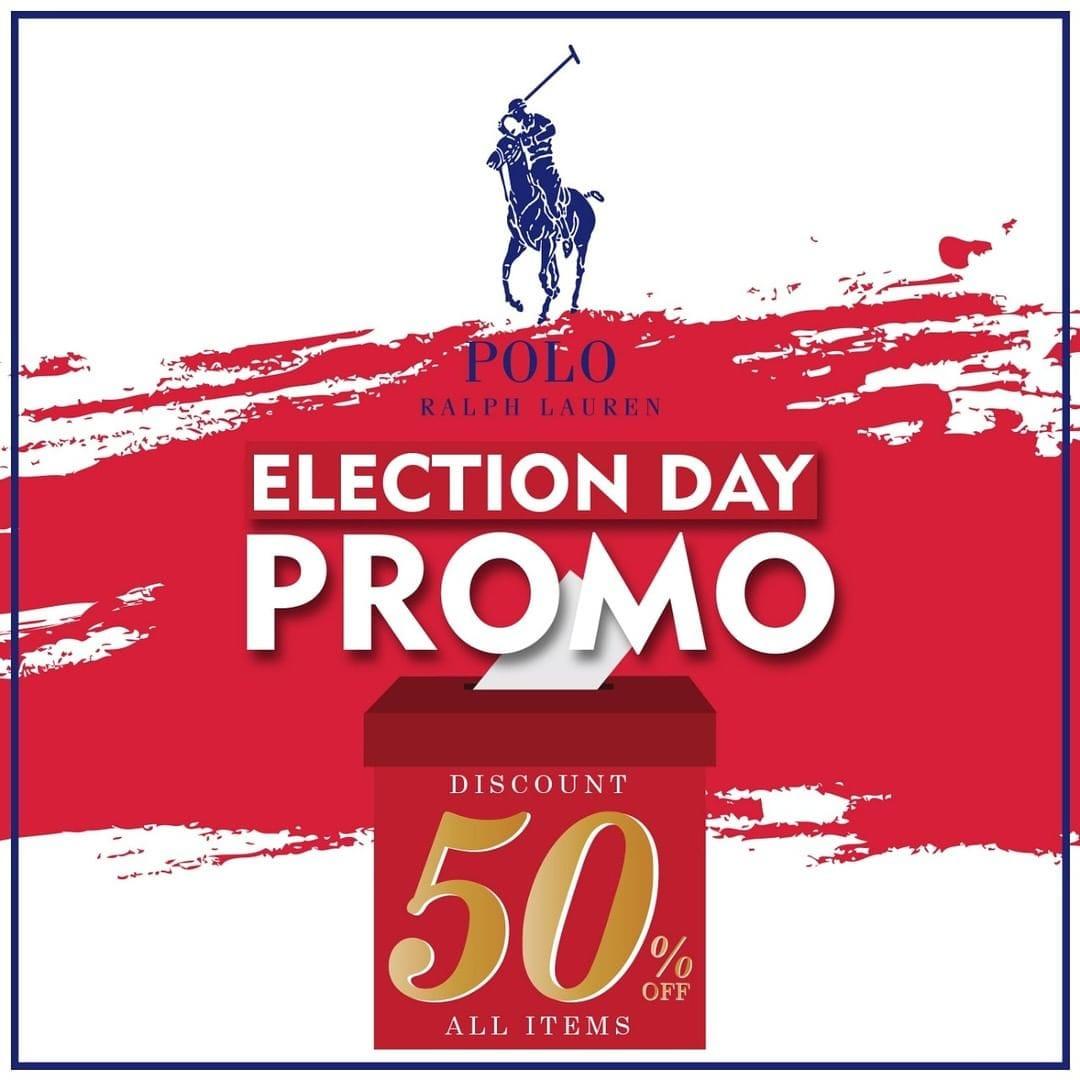 Diskon Polo Ralph Lauren Promo Spesial Pemilu, Diskon HINGGA 50%