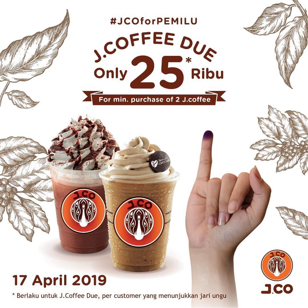 JCo Donuts Promo Pemilu 2019, Beli Minuman Cuma Rp. 25.000