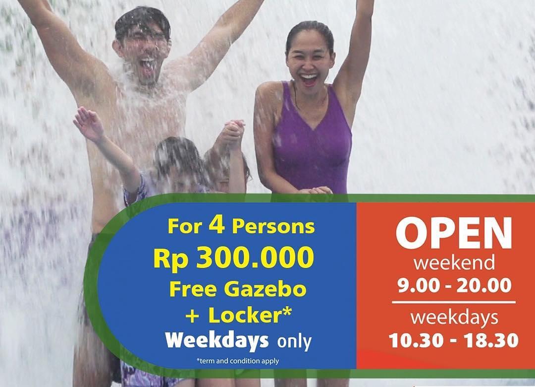 Go Wet Waterpark Promo Berenang Berempat Hanya Rp. 300.000