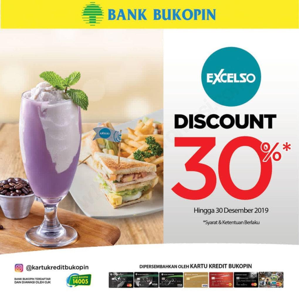 EXCELSO Promo DISKON 30% dengan Kartu Kredit Bank Bukopin