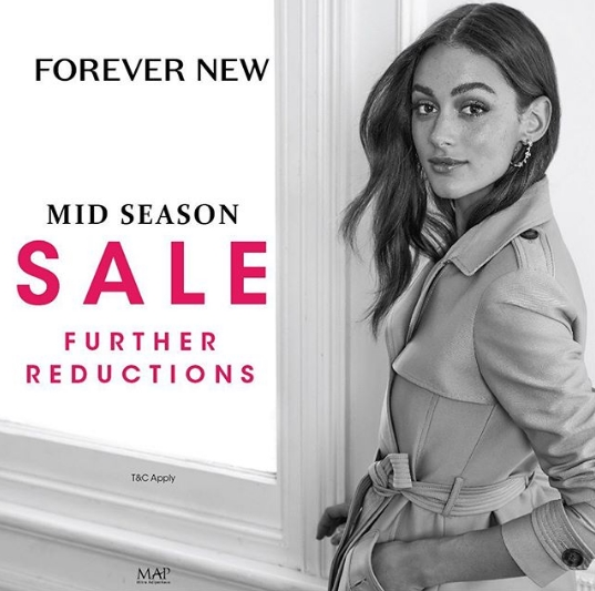Diskon FOREVER NEW MID SEASON SALE up to 50% off