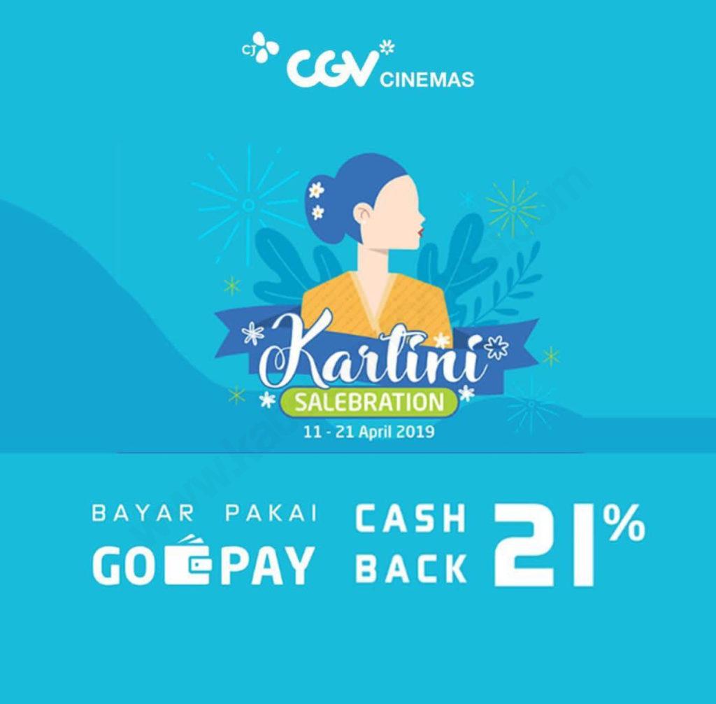 Diskon CGV KARTINI SALEBRATION – Cashback 21% Beli Tiket Nonton CGV Pakai GO-PAY