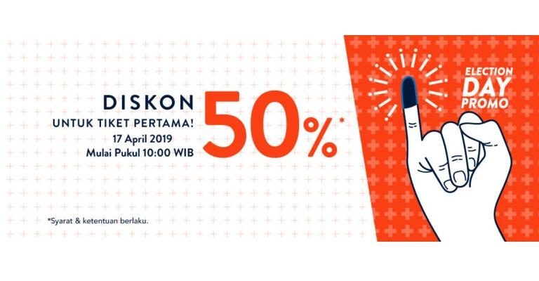 TIX.ID Promo PEmilu - Diskon 50% Untuk Tiket Pertama