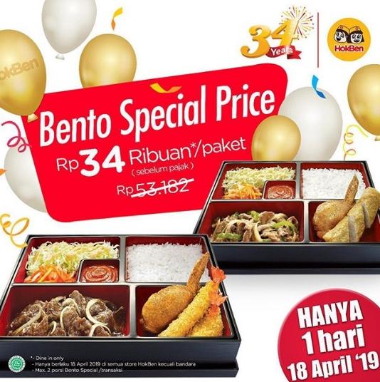 HOKBEN 34th Anniversary Promo Special Price Rp 34 Ribuan