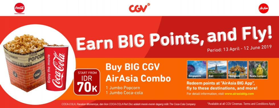 Diskon CGV CINEMA BIG CGV AirAsia Combo – Dapatkan GRATIS BIG Point AirAsia