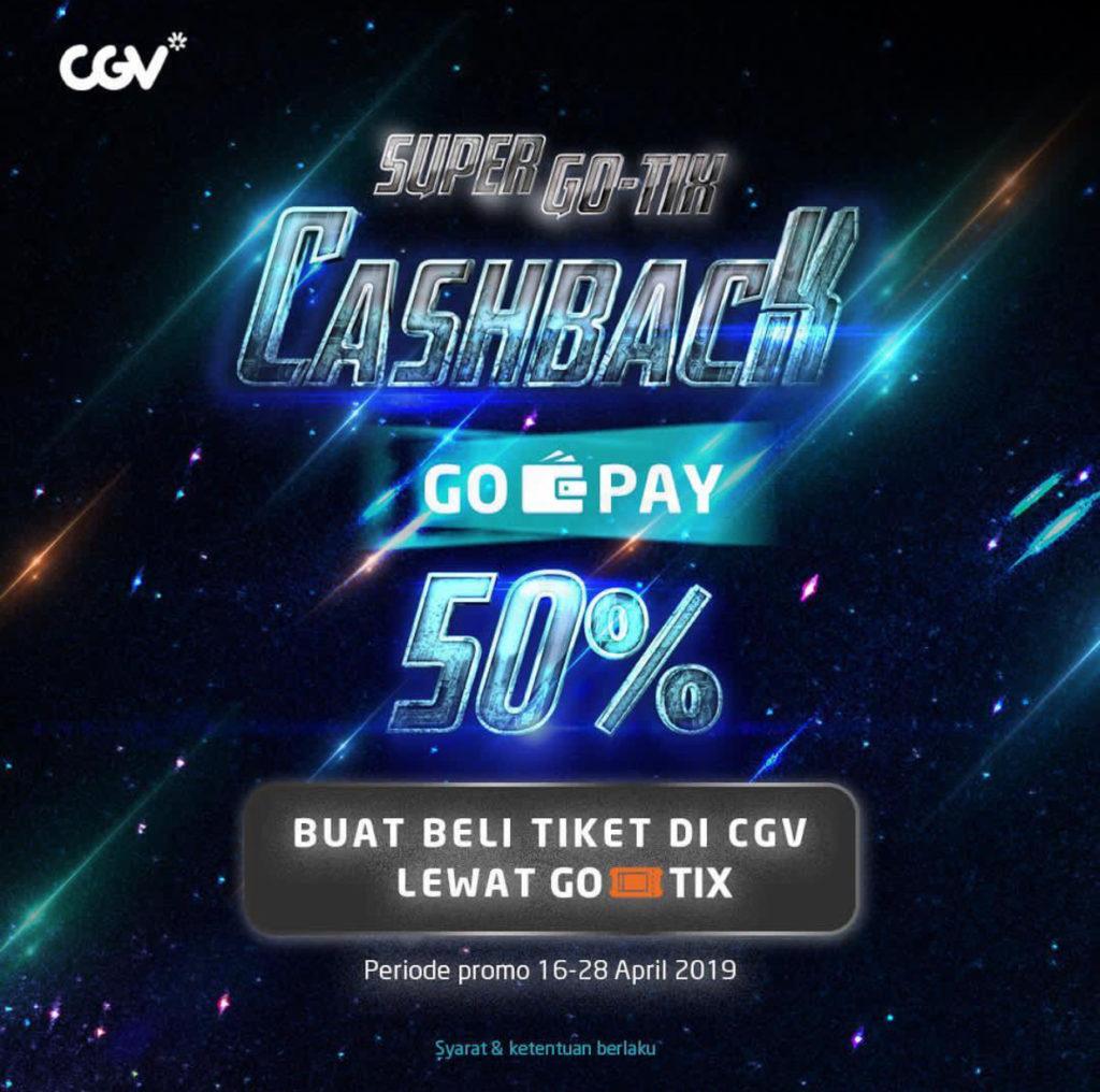 CGV CINEMAS Promo Cashback 50% Beli Tiket dengan GO-TIX