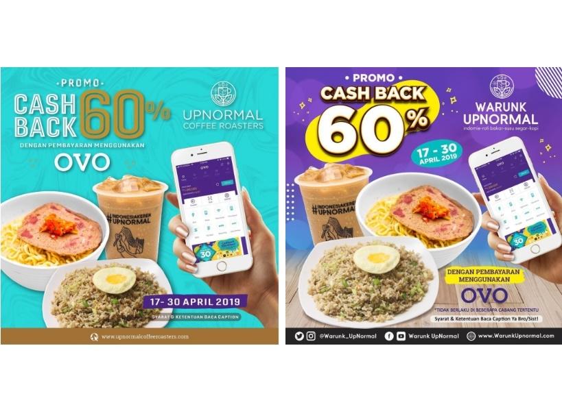 WARUNK UPNORMAL Promo CASHBACK 60% dengan OVO