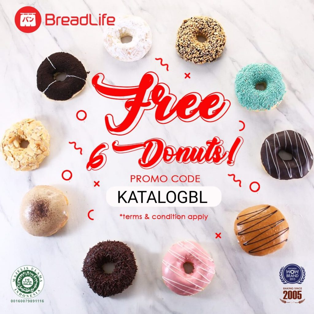 BREADLIFE Promo Buy 6 Get 6 Free* Donuts