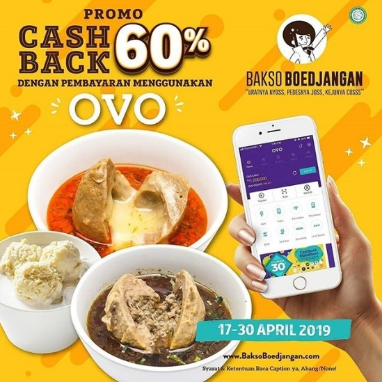 Diskon BAKSO BOEDJANGAN Promo Cashback 60% dengan OVO