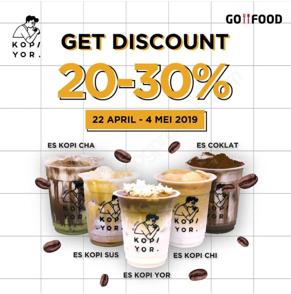 Diskon KOPI YOR Promo DISKON HINGGA 30% via GOFOOD