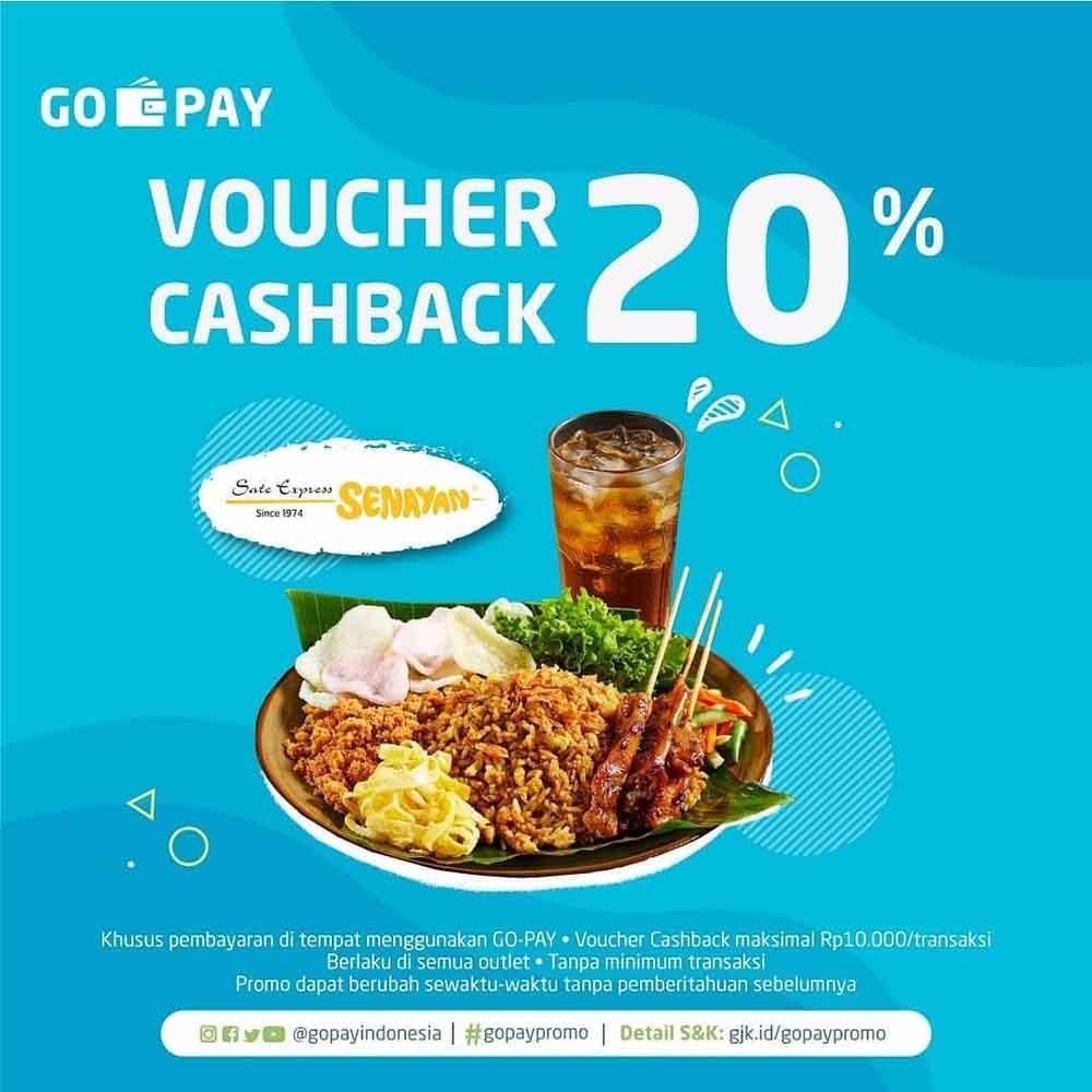 SATE KHAS SENAYAN Promo CASHBACK 20% dengan GOPAY