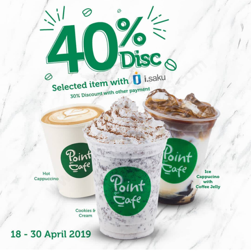 INDOMARET POINT CAFE Promo DISKON HINGGA 40%