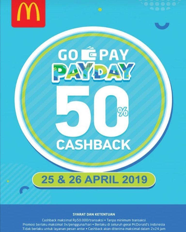 Diskon McDONALDS Promo GOPAY Pay Day Cashback 50%
