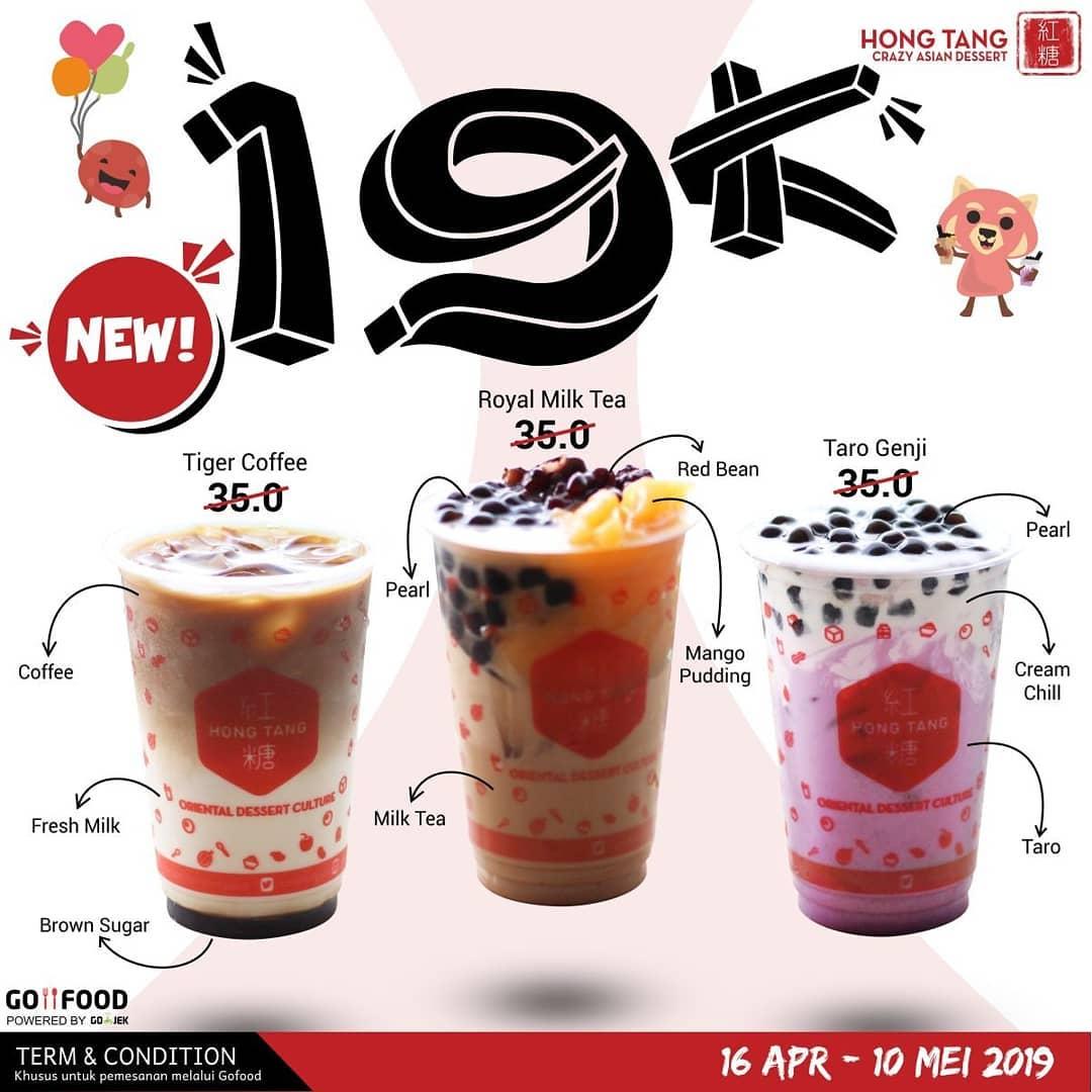 HONG TANG Promo Menu Baru hanya 19.000