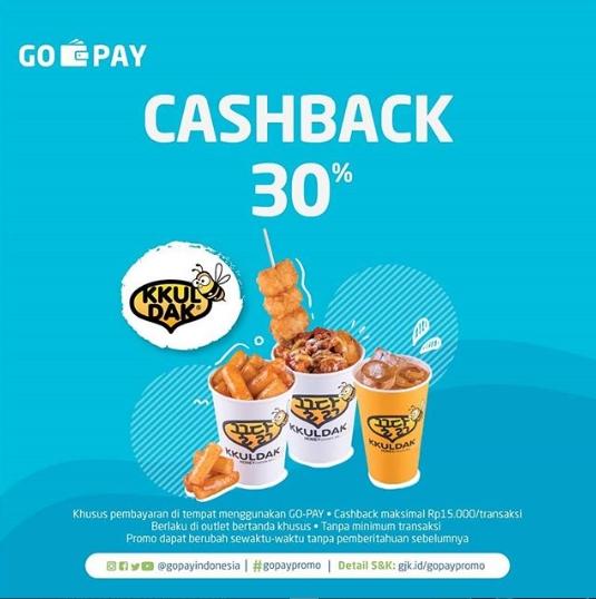 Kkuldak Promo Cashback 30% dengan GOPAY