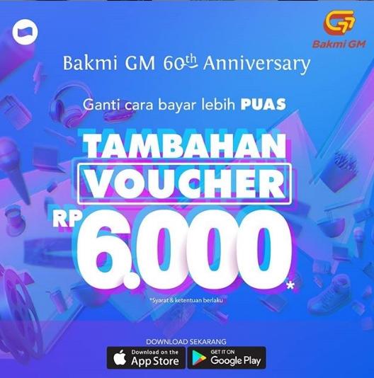Bakmi GM Promo Tambahan Rp. 6.000 dengan DANA