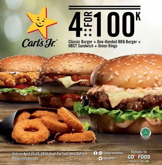 CARLS Jr Promo 4 for 100K