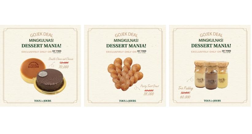 Tous Les Jours Promo Mingkulnas Dessert Mania via GoFood