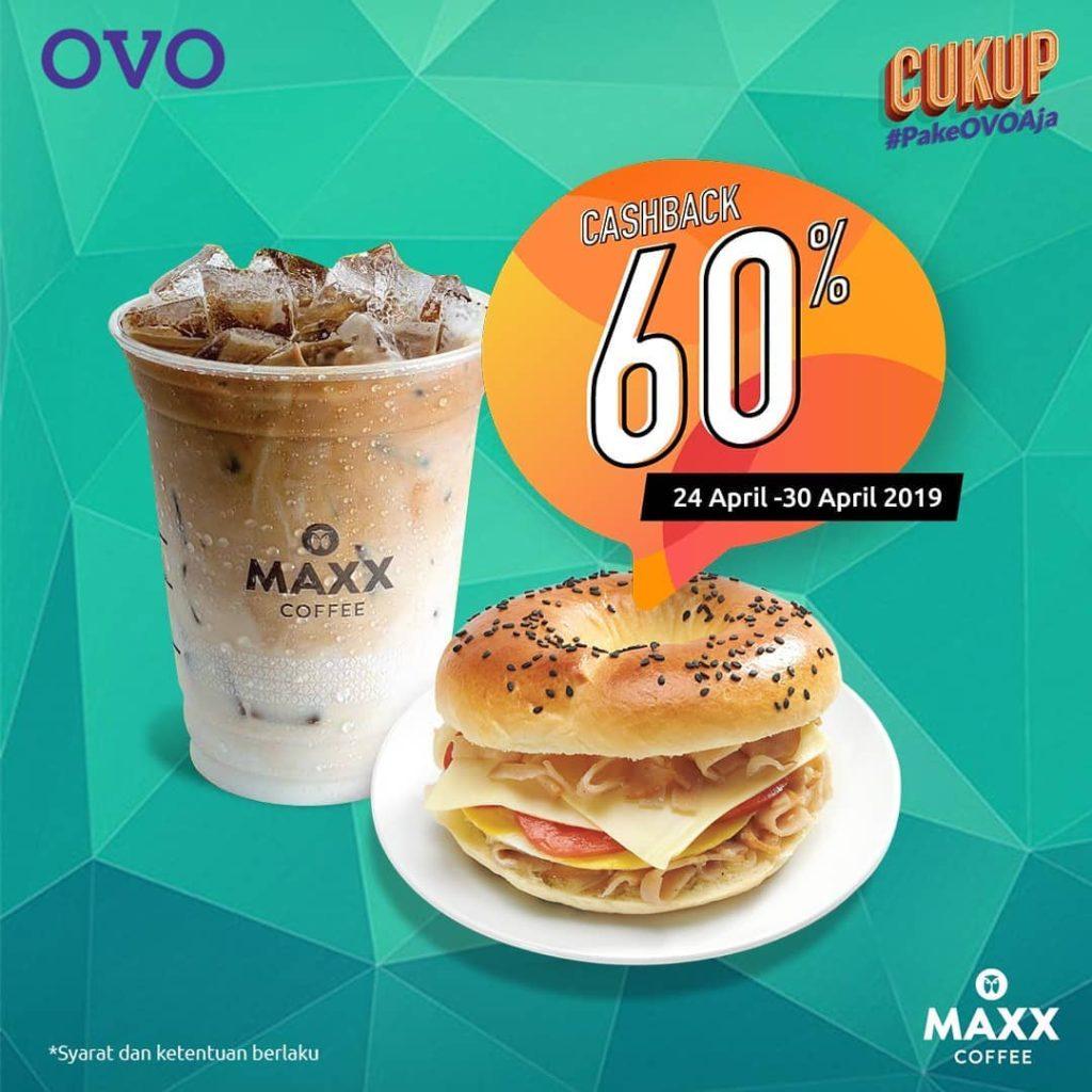 Maxx Coffee Promo Cashback 60% dengan OVO