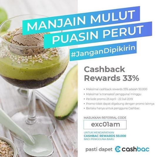Excelso Promo Cashback Reward 33% dengan Cashbac App
