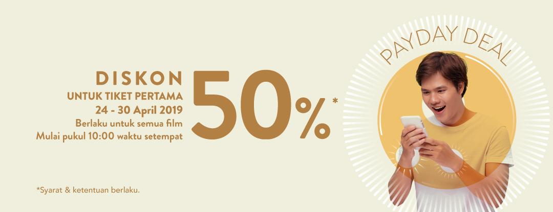 Diskon TIX ID Promo Payday Deals – Diskon 50% Untuk Tiket Pertama