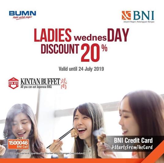 Diskon Kintan Buffet Promo Ladies wednesDAY Diskon 20% dengan BNI