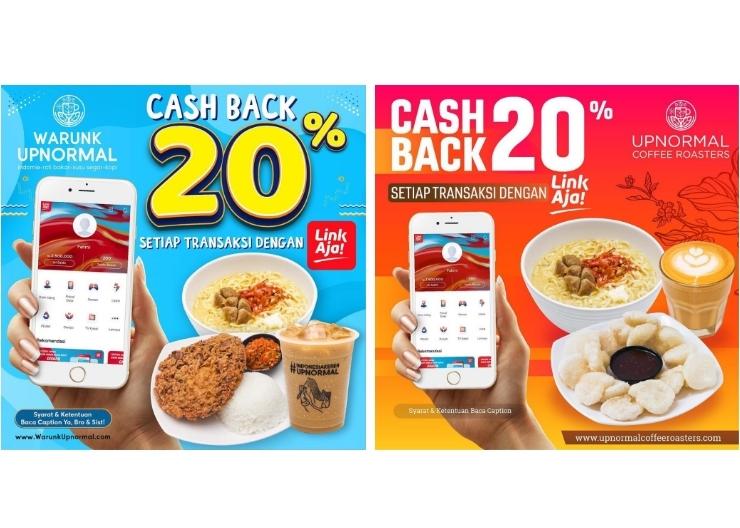 WARUNK UPNORMAL Promo CASHBACK 20% dengan LinkAja