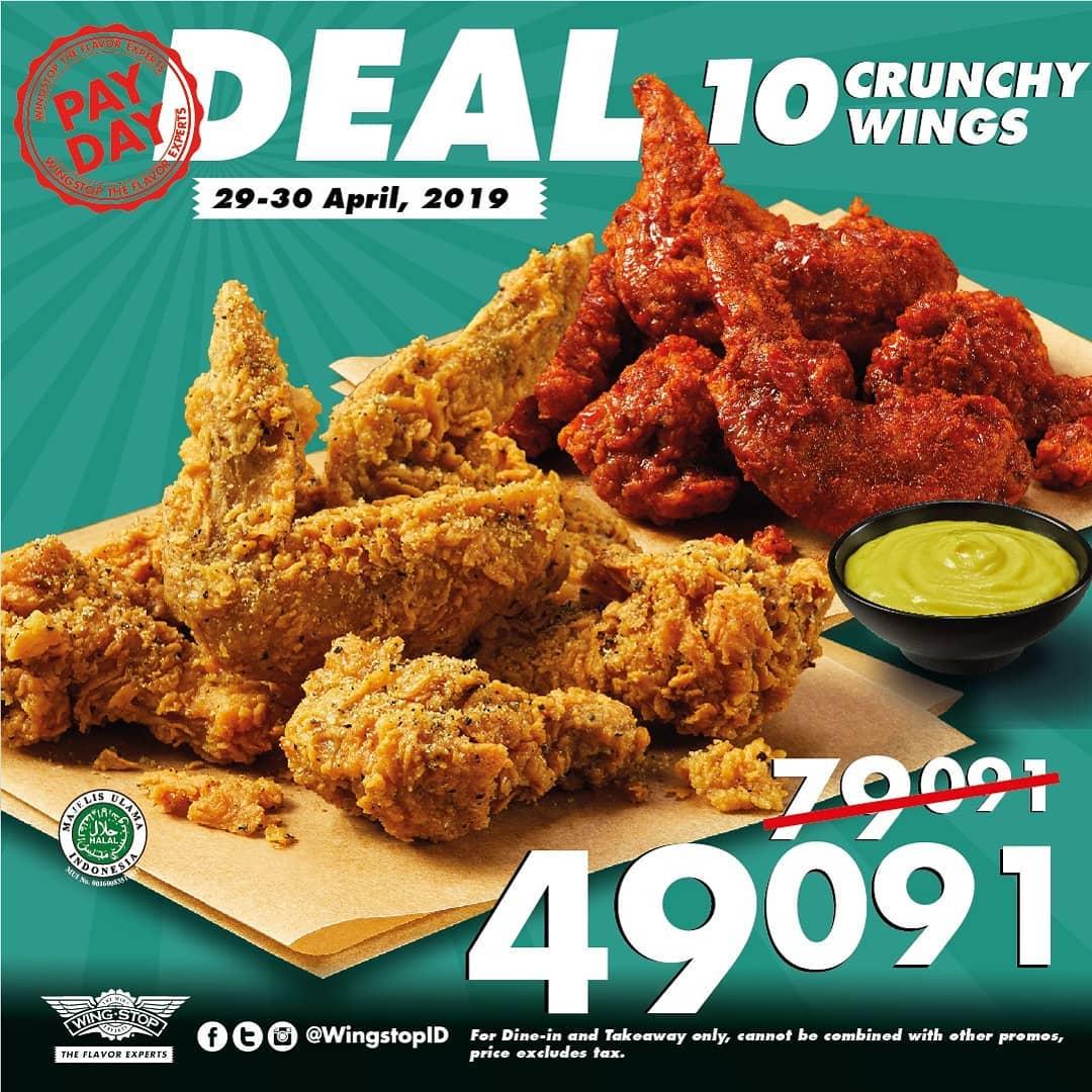 WINGSTOP PayDay Deal – Paket 10 Crunchy Wings Hanya Rp. 49.091