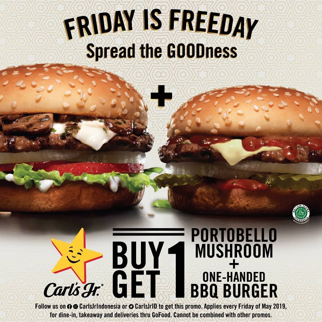 Carls Jr Promo Friday Is Freeday May, Buy 1 Get 1 Free