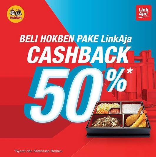 Diskon HOKBEN Promo Cashback 50%  dengan LinkAja