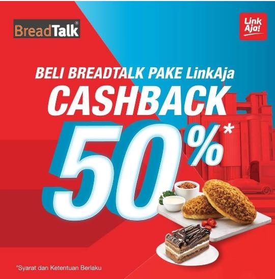 BREADTALK Promo Cashback 50% dengan LinkAja