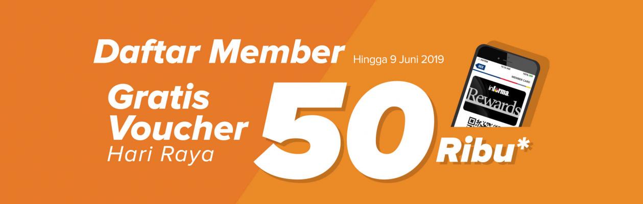 INFORMA Promo Daftar Member Gratis Voucher Hari Raya 50 Ribu