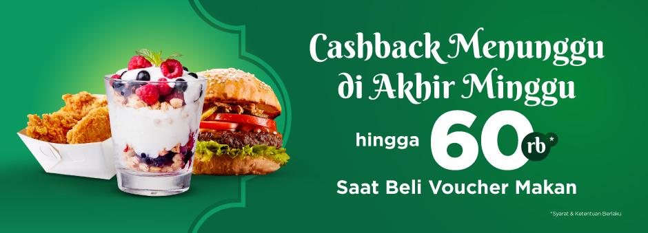 TOKOPEDIA.COM Promo Beli Voucher Makan CASHBACK hingga 60Rb*!