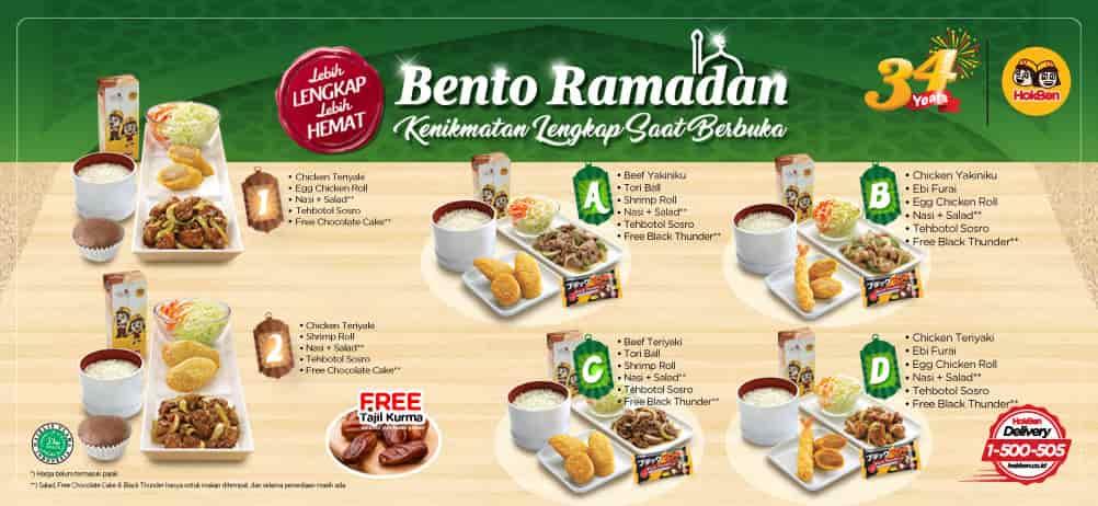 HOKBEN Promo Bento Ramadhan – Harga mulai Rp. 48.000