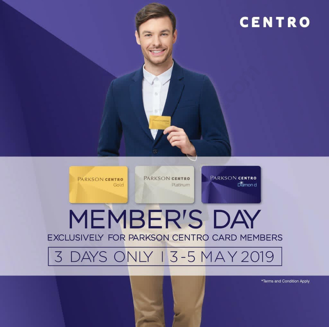 Diskon CENTRO dan PARKSON MEMBER'S DAY – Penawaran spesial khusus untuk Member PARKSON CENTRO CARD