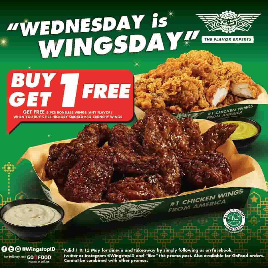 Diskon Wingstop Promo Wednesday Is Wingsday May, Buy 5 get 5 Free