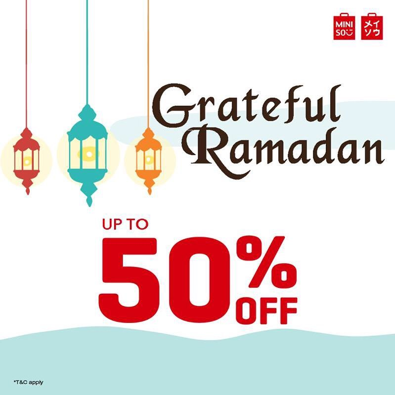 Miniso Promo Grateful Ramadan Is Coming, Diskon Hingga 50%