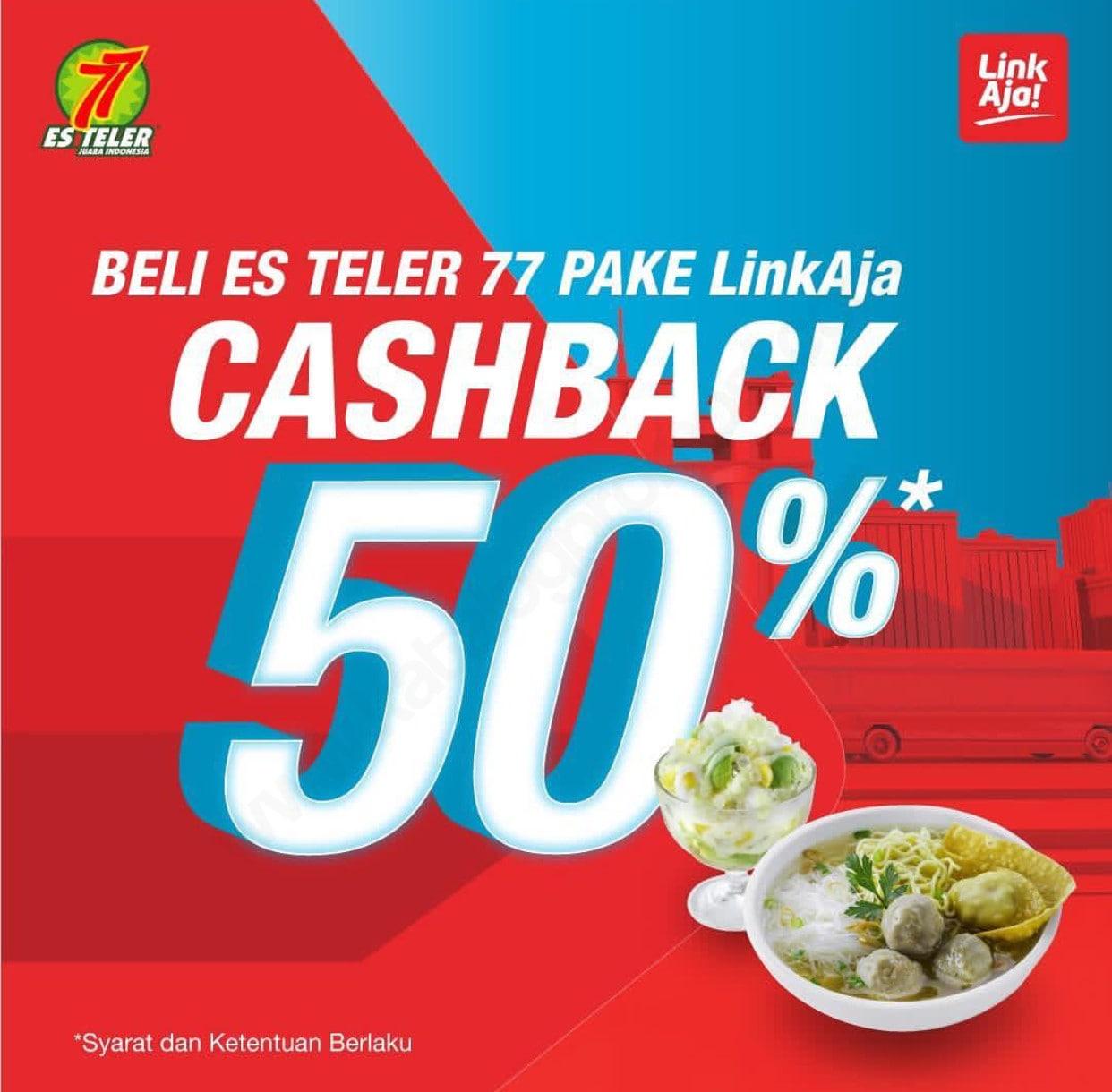 Diskon ES TELER Promo CASHBACK 50% untuk Transaksi dengan LinkAja